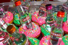 21st Birthday Smirnoff Cupcakes!