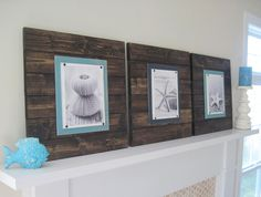 Set of 3 Xtra Large Dark Stain Plank Frames for 8x10. $189.00, via Etsy.