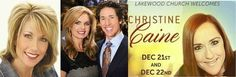 BETH MOORE WORSHIPS AT JOEL OSTEEN'S CHURCH AS PASTRIX CHRISTINE CAINE PREACHES