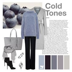 """""""Cold Tones"""" by dezaval ❤ liked on Polyvore featuring Michael Kors, Georg Jensen, maurices, Libertine, STELLA McCARTNEY, TIBI, Zara, booties, scarf and totebag"""
