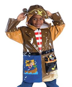 Loving this Brown Pirate Raincoat - Toddler & Kids on #zulily! #zulilyfinds