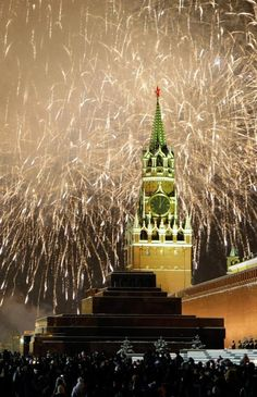 New Year's Eve in Moscow.