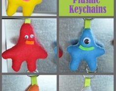 Fun kid's craft, activities and recipe, including this: How to Make Monster Plushie Keychains by Little Birdie Secrets #craft
