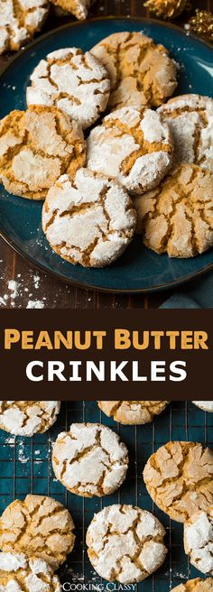 Crisp Peanut Butter Crinkles - A must try cookie! Melt-in-your mouth delicious!