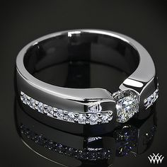 Custom Men's Diamond Wedding Ring by WFDiamonds, via Flickr