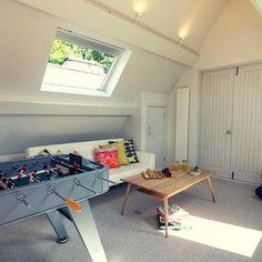 Games room at Brunt House in Langdale  #langdale #lakes #lakedistrictuk #holidaycottage #gamesroom  #foosball #homedecor