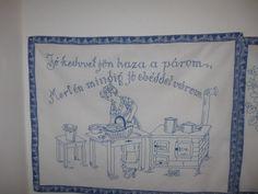 Falvedo: Jo kedvvel jon haza a parom, Mert mindig jo ebeddel varom! Embroidery, Frame, Hungary, Craft Ideas, Google, Cross Stitch, Dashboards, Craft, Wood