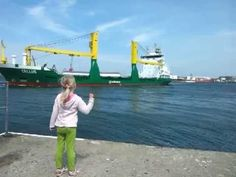 This Little Girl Tries To Get A Ship To Honk Its Horn, Then Immediately Regrets Her Decision.