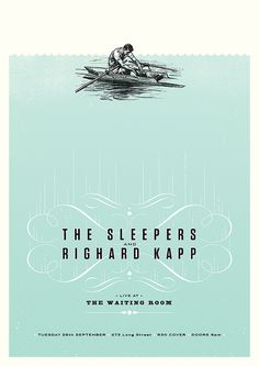 The Sleepers poster. Design by Adam Hill.