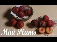 Cute, Realistic Miniature Plums - Polymer Clay Tutorial - YouTube