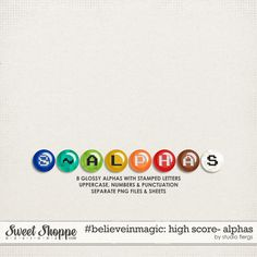 Quality DigiScrap Freebies: High Score alphas freebie from Studio Flergs