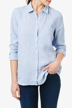 Women's Button down Shirts: White Oxford shirt for Women ...