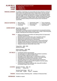 resume sample examples sous chef jobs free template for cook prep - Resume Sample For Cook