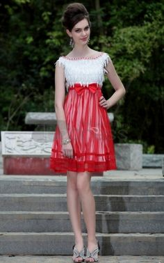 In Stock Tencel Chiffon & Embroidery net Illusion High Neckline Short Prom Dress Cocktail Dresses With Sleeves, Cocktail Dresses Online, Sexy Cocktail Dress, White Homecoming Dresses, Red Bridesmaid Dresses, Prom Dresses, Cute Short Dresses, Wedding Dresses Plus Size, Nice Dresses