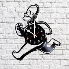 Simpsons Illuminati Handmade Vinyl Record Wall Clock Fan Gift - VINYL CLOCKS