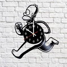 Simpsons Illuminati Handmade Vinyl Record Wall Clock Fan Gift - VINYL CLOCKS