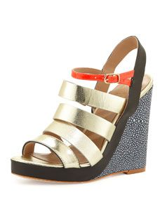 st. lucia strappy wedge