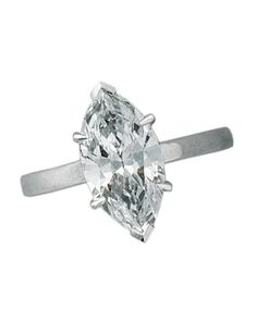 Glossary of Engagement Ring Cuts: Marquise Cut - an oval with pointed ends.
