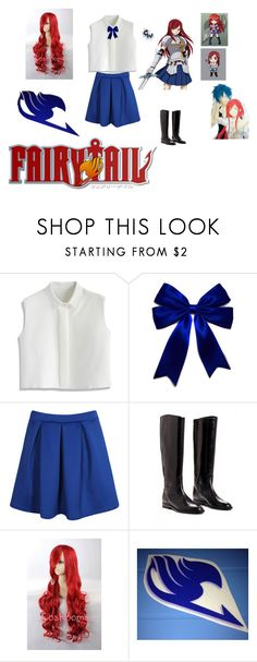 """""""Erza Scarlet:Fairy Tail"""" by angle12345 ❤ liked on Polyvore featuring mode, Chicwish et Boohoo"""