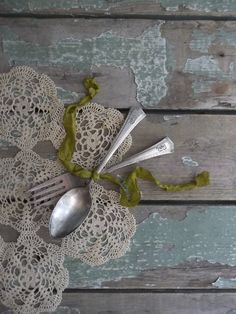 Antique Silverware. Monogrammed. Farmhouse by 3vintagehearts, $16.50