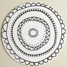 Aura-kakkualusta mustavalkoinen, iso | Aura cake plate black and white | www.käpynen.fi