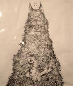 katsuya terada illustration for Terra's Black Marker at the Compound Gallery in Portland Oregon