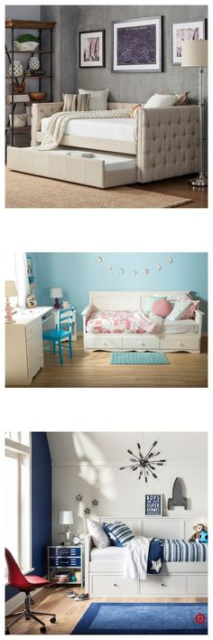 Shop Target for daybeds you will love at great low prices. Free shipping on all orders or free same-day pick-up in store. Small Room Design, Bed Design, House Design, Home Bedroom, Kids Bedroom, Bedroom Decor, Bedrooms, Raised Bed Garden Design, Guest Room Office