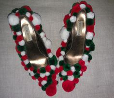 Tacky, Ugly Christmas Sweater Party Shoes! Size 7 in Clothing, Shoes & Accessories | eBay