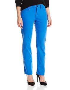 NYDJ Womens Petite Marilyn Straight Jeans In Atlantis Blue 16 Petite * You can find more details by visiting the image link.