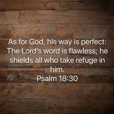 Psalms As for God, his way is perfect: The LORD's word is flawless; Jesus Loves You, God Loves Me, Watch And Pray, Verse Of The Day, Righteousness, S Word, In The Flesh, People Quotes, Bible Scriptures