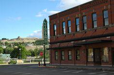 Outside shots of businesses in Livingston, Montana. Livingston Bar & Grill.