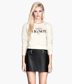 H&M Faux-leather skirt.