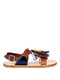 Clay tassel leather sandals | Isabel Marant | MATCHESFASHION.COM