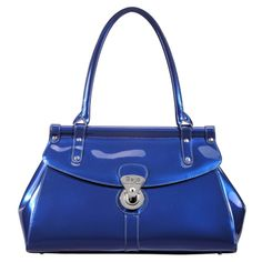 Trendsetter (Marina Blue) || Dimensions: 16″ L x 5.5″ W x 10″ H - Strap Length: 8.5″ - Opening: 3″ - Trim Colors: None - SRP: $115.00 - Available In: Ebony, Fuchsia, Lipstick Red, Marina Blue, Chocolate