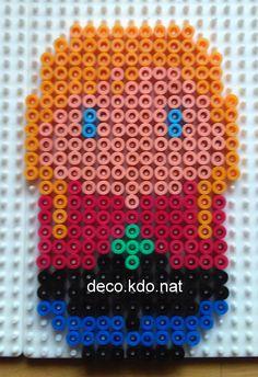 Chibi Anna  - Frozen hama beads by Deco.Kdo.Nat