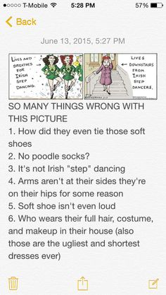 Sigh. (except I don't entirely see the problem with calling it Irish step dancing.) (Step Dance)