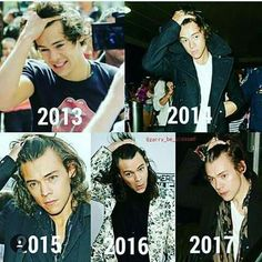 The evolution of Harry Styles. Can we take a moment to appreciate the his beauty and his parents for making a hot creature