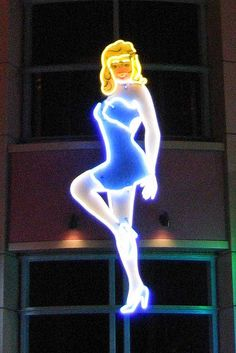 Pin-up Girl Neon Sign Las Vegas by Neato Coolville, via Flickr