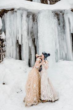 Winter LGBT elopement in the Alps Snow Wedding, Elope Wedding, Wedding Shoot, Destination Wedding, Dream Wedding, Winter Wedding Inspiration, Elopement Inspiration, Getting Married Abroad, Winter Bride