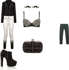"""studded"" by mekaylakool on Polyvore"
