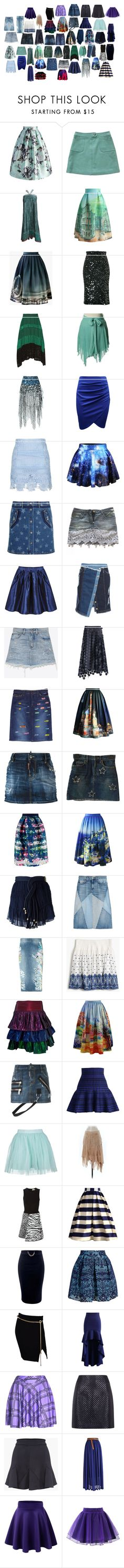 """Skirts 10"" by spellcasters ❤ liked on Polyvore featuring Chicwish, Paul & Joe, Anthony Vaccarello, Cédric Charlier, Proenza Schouler, Faith Connexion, Topshop, Valentino, Dolce&Gabbana and SJYP"