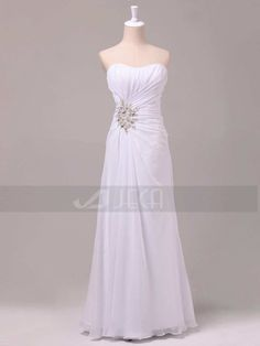 Chic Summer Wedding Dress Beach Wedding Dress by Jecadress on Etsy, $219.95