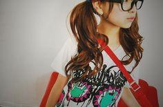 gotta love the glasses #glasses #cute #ulzzang #korean #kfashion #fashion