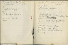 Stream of consciousness: Morrison scribbled the notes after moving to Paris to join his girlfriend Pamela Courson shortly after recording th...