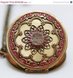 SALE Locket, Resin locket,Ruby Red Locket,filigree locket necklace,resin locket,photo locket , brass locket by emmalocketshop on Etsy https://www.etsy.com/listing/85887041/sale-locket-resin-locketruby-red