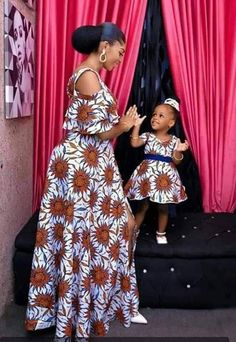 mummy and baby ankara matching styles African Dresses For Kids, African Fashion Ankara, Latest African Fashion Dresses, African Dresses For Women, African Print Dresses, African Print Fashion, African Attire, African Fashion Traditional, Ankara Gown Styles