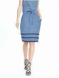 Timo Weiland Collection Gingham Skirt