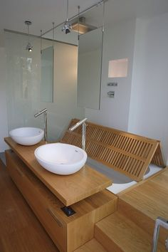 Villa A, Catania, 2013 - A-OMA - bathtub hidden beneath shower grate.