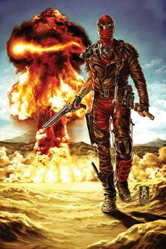 AWESOME WARNING: Deadpool (homage to Mad Max) by Mark Brooks #PunisherApproved