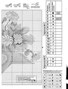 stokrotki 5/5 Cross Stitch, Diagram, Dots, Punto De Cruz, Seed Stitch, Cross Stitches, Crossstitch, Punto Croce